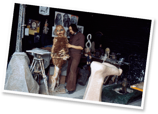 Sculpture studio 1970