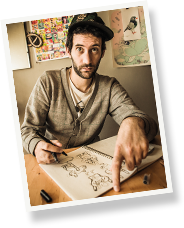 Jon Burgerman Portrait